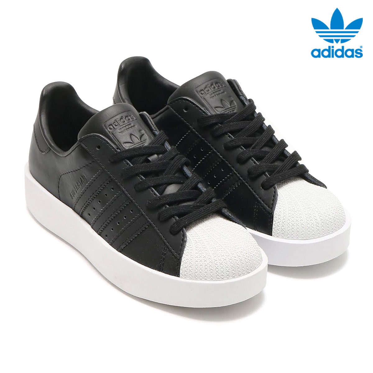 adidas Orginals SUPERSTAR BD W (Adidas originals superstar BD W) (Core  Black Core Black Running White) 17SS-I b5b9c528e