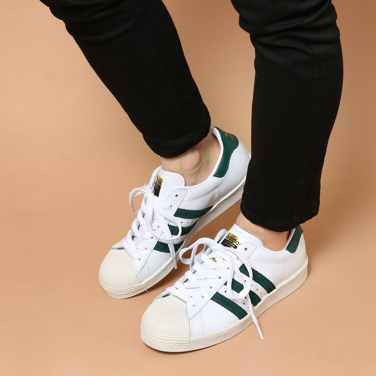 save off 8ab8a 019d5 adidas Originals SUPERSTAR 80s (Running White Collegiate Green Gold Mett)  (アディダス オリジナルス スーパースター80s)  メンズ レディース スニーカー 17SS-I