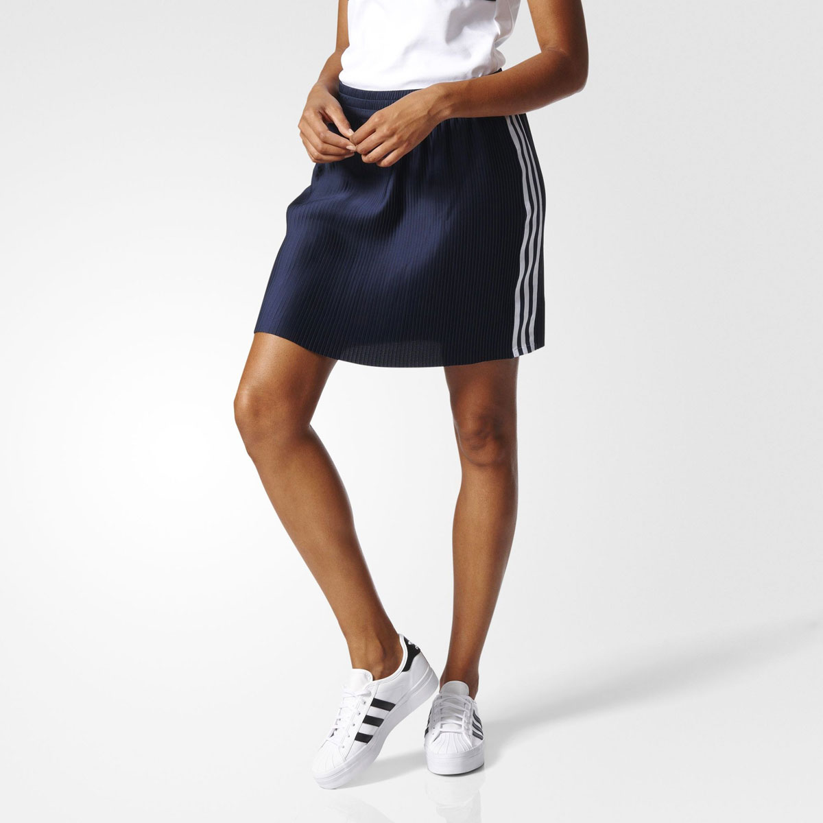 adidas Originals 3 STRIPES SKIRT (아디다스 3 스트라이프 스커트) (Legend Ink) 17 SS-I