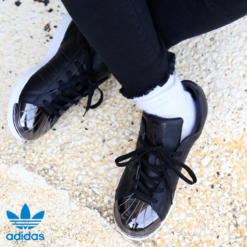 adidas Originals SUPERSTAR METAL TOE W (アディダス オリジナルス スーパースター メタル トゥー) (Core Black/Core Black/Running White) 【レディース スニーカー】17SS-I