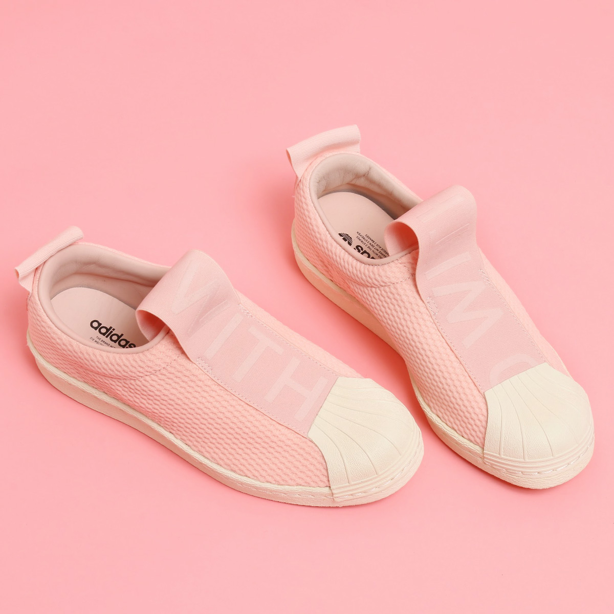 3fb6a8d714 adidas Originals SUPERSTAR BW35 SLIPON W (Adidas originals superstar slip- ons) (ICEY PINK ICEY PINK) 17FW-I