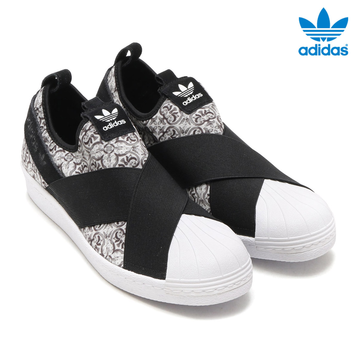 adidas Originals SS SlipOn W (Adidas originals superstar slip-ons) (Core Black/Core Black/Running White) 17FW-I