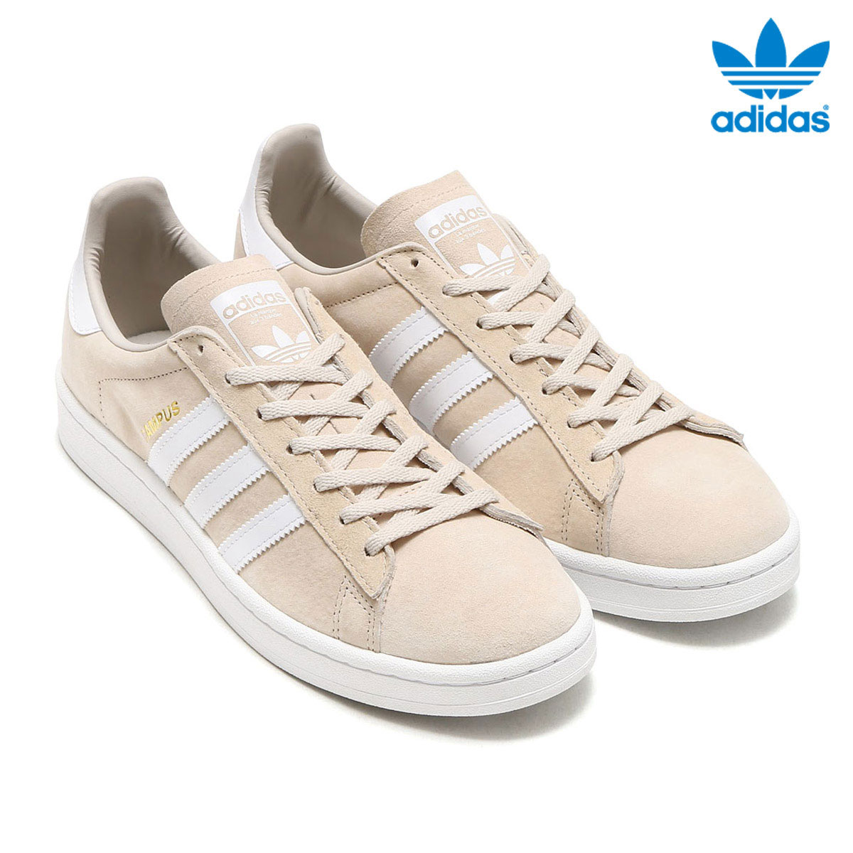 adidas Originals CAMPUS W (Adidas original scan pass W) (Clear Brown/Running White/Crystal White) 17FW-I