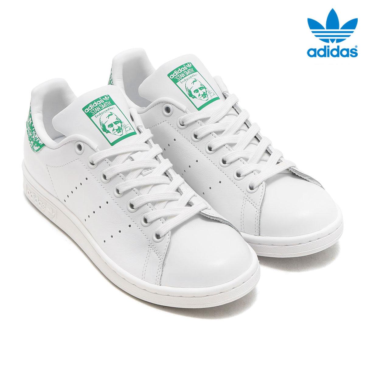 adidas Originals STAN SMITH W (Adidas originals Stan Smith W) (Running  White Running White Green) 17FW-I d0aa19e2e