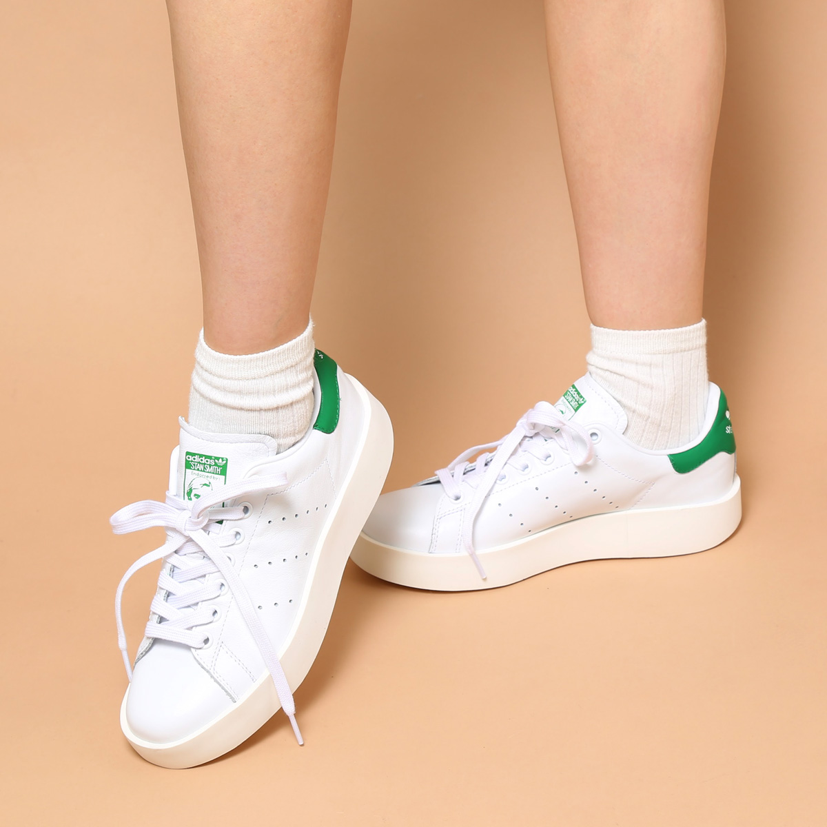 adidas Originals STAN SMITH BD W (アディダス オリジナルス スタンスミス BD W)RUNNING WHITE/RUNNING WHITE/GREEN【レディース スニーカー】【厚底】17SS-I