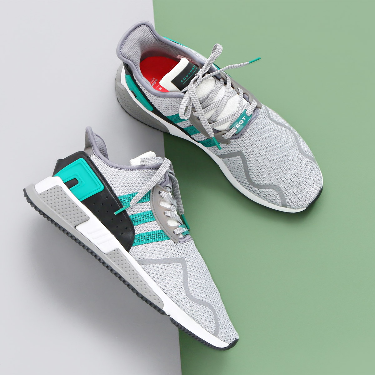 f454dafe69bf8d adidas Originals EQT CUSHION ADV (Adidas originals E cue tea cushion ADV)Grey    Sub Green   Running White 18SP-I
