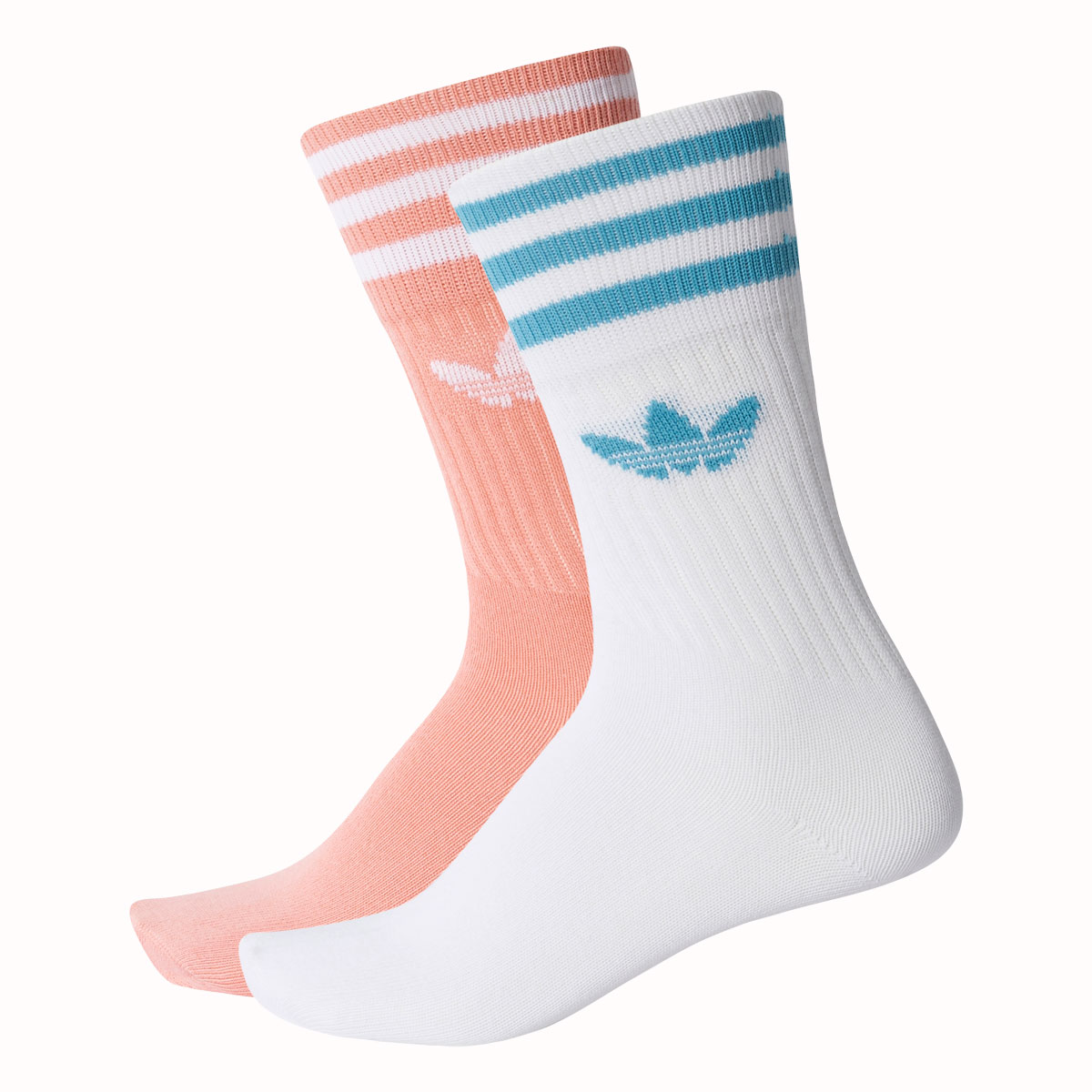 Atmos Pink Adidas Originals Solid Crew Socks 2p Adidas Originals