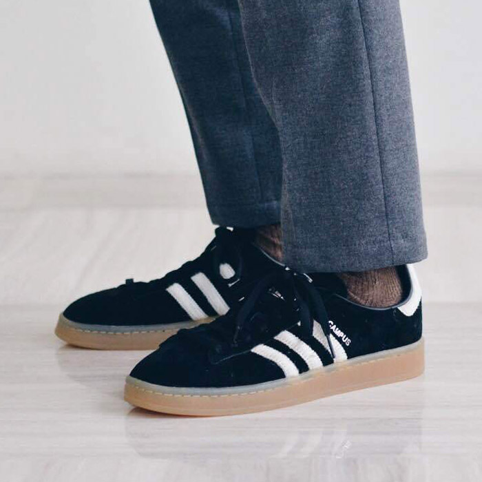 best service c72bf fbc3a adidas Originals CAMPUS (Adidas original scan pass) CORE BLACK VINTAGE WHITE. SILVER  MET 17FW-I