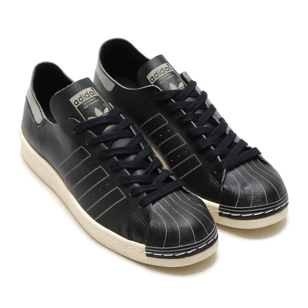 adidas Originals SUPERSTAR 80s DECON (Adidas originals superstar) (CORE BLACKCORE BLACKVINTAGE WHITE) 17FW S