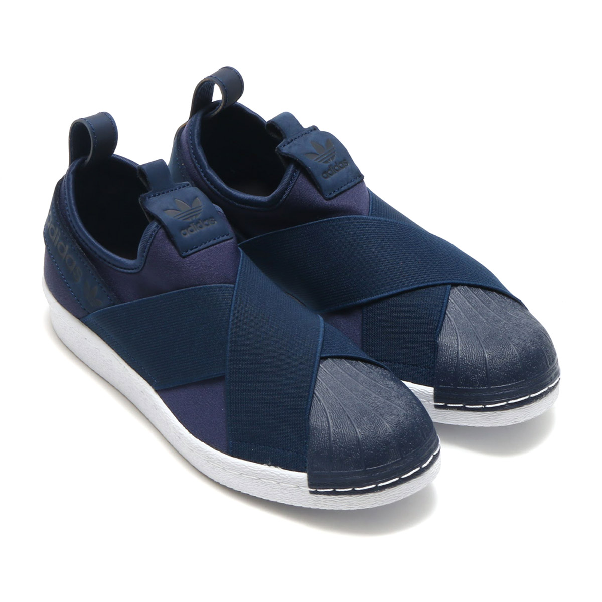 adidas slip on navy