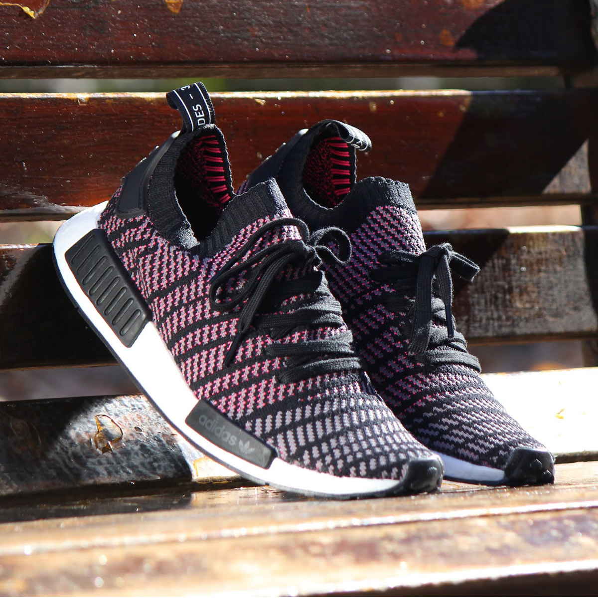 bf1482f48386 adidas Originals NMD R1 STLT PK (Adidas originals N M D R1 STLT PK) Core  Black Grey Four Solar Pink 18SP-S