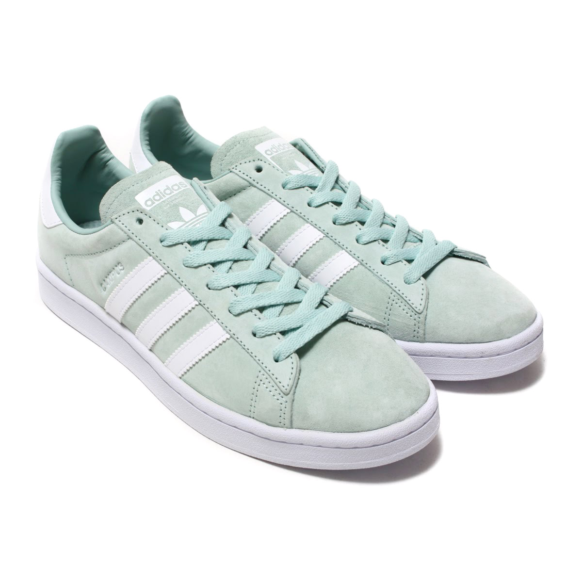 reputable site 8ac9f 71f7e adidas Originals CAMPUS (Adidas original scan pass) Ash GreenRunning  WhiteRunning White 18SS-I