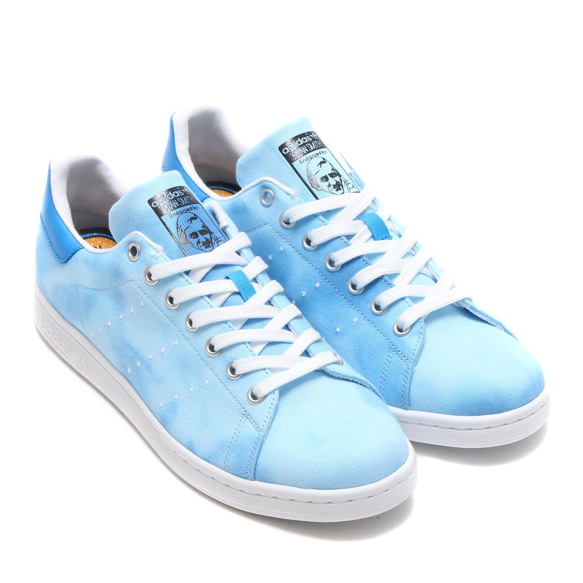 purchase cheap 0d306 9572e adidas Originals PW HU HOLI STAN SMITH (Adidas originals Farrell Williams  HU HOLI Stan Smith) Blue / Running White / Running White 18SS-S