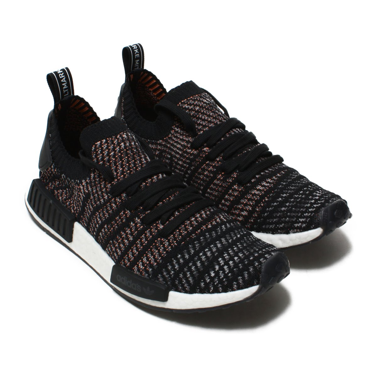 best website c608a ac16a adidas Originals NMD R1 STLT PK (Adidas originals N M D R1STLT PK W) Core  Black/Grey/Grey 18FW-I