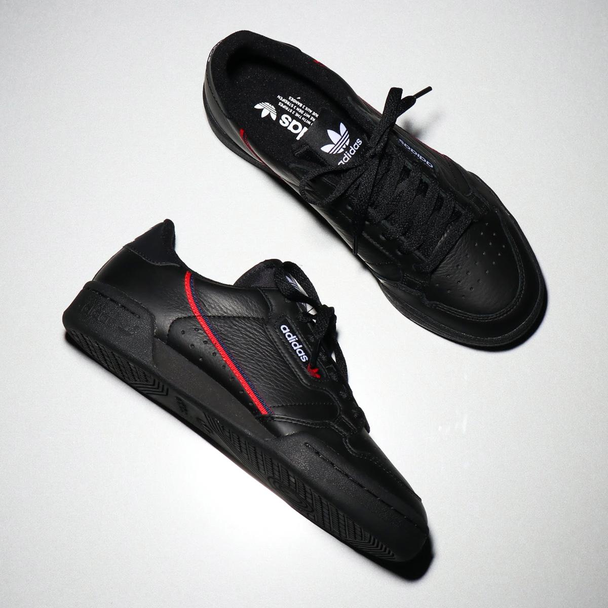 adidas Originals CONTINENTAL 80(アディダス オリジナルス コンチネンタル 80)CORE BLACK/SCARLET/COLLEGIATE NAVY【メンズ レディース スニーカー】18FW-I