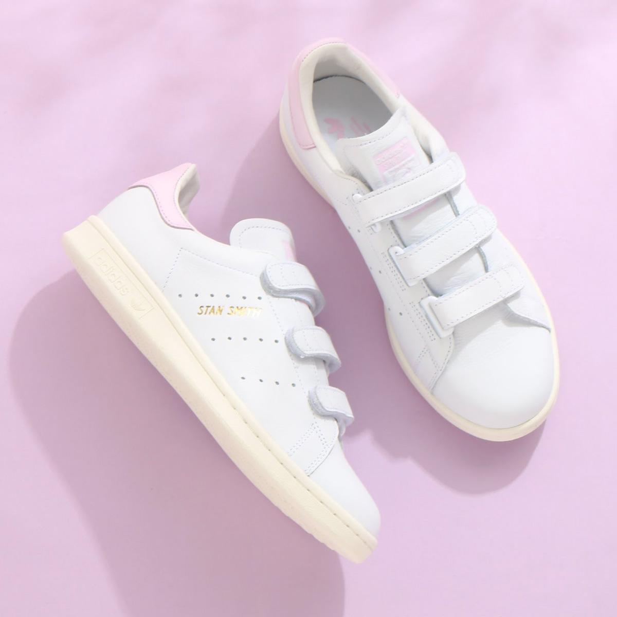 adidas Originals STAN SMITH CF(アディダス オリジナルス スタンスミス CF)Running White/Running White/Aero Pink18SS-I