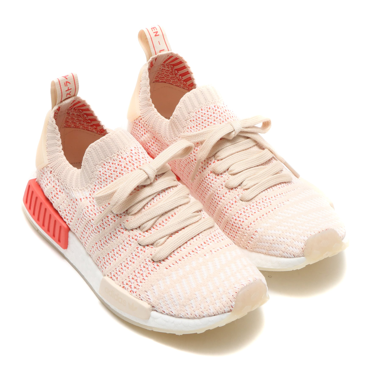 more photos 0847e 27aac adidas Originals NMD_R1 STLT PK W (Adidas originals N M D R1 STLT PK W)  Linen/Crystal White/Running White 18SS-I