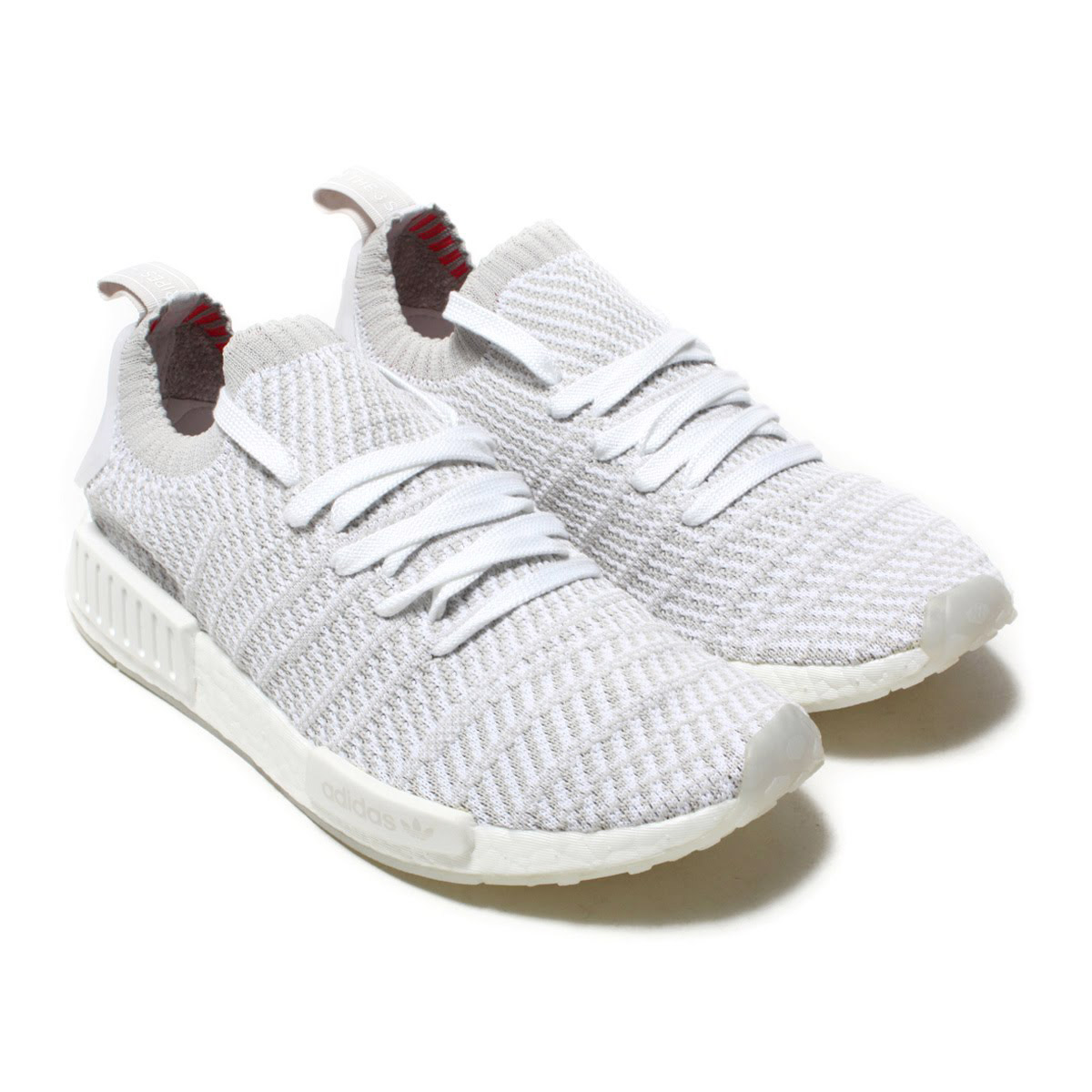 more photos f9410 5648a adidas Originals NMD_R1 STLT PK (Adidas originals N M D R1 STLT PK) Running  White/Grey One/Solar Pink 18SS-I