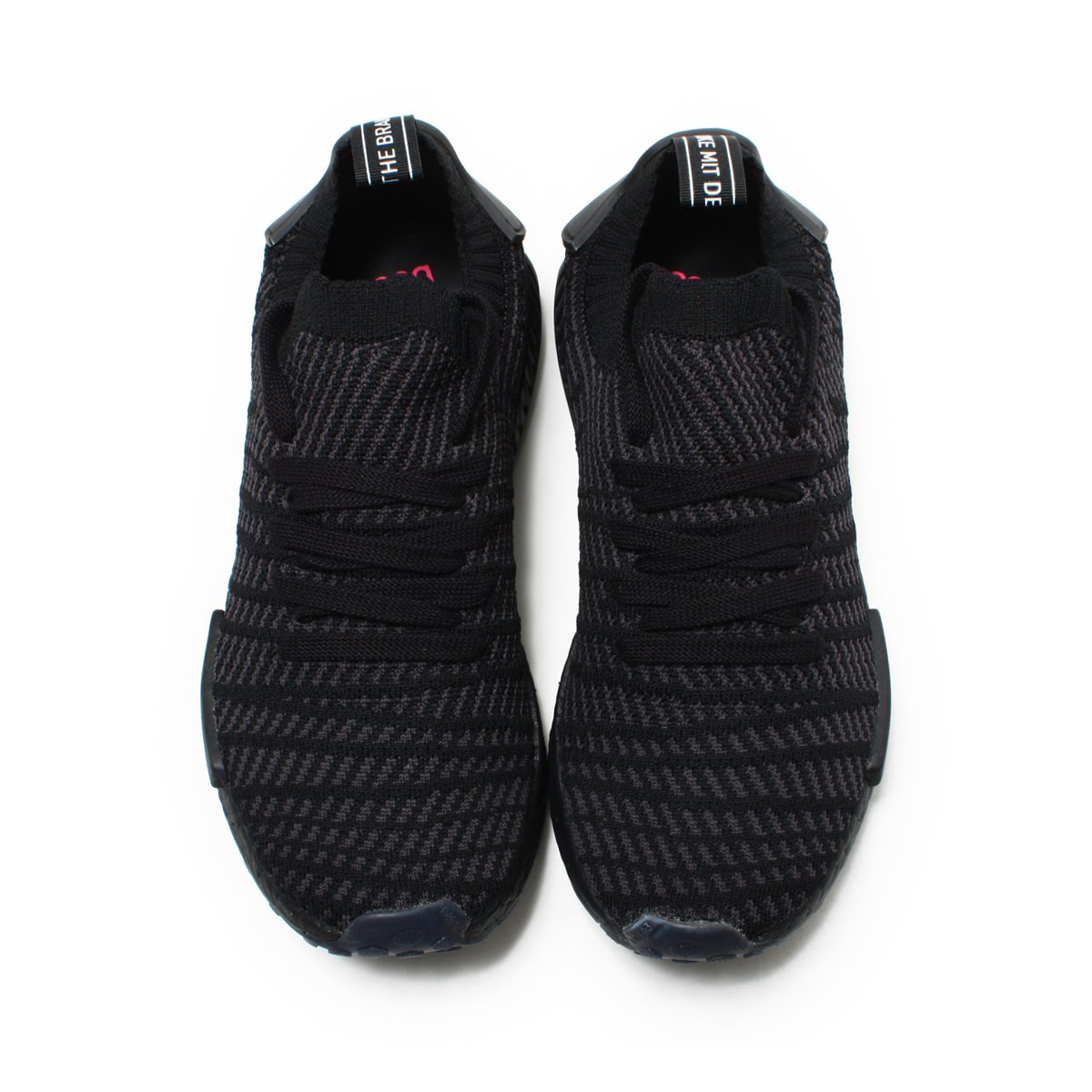 499f65091 ... Primeknit in Triple Black CQ2391-8  Preview Of adidas Originals NMDR1  STLT PK (Adidas originals N M D R1 STLT PK) Core ...