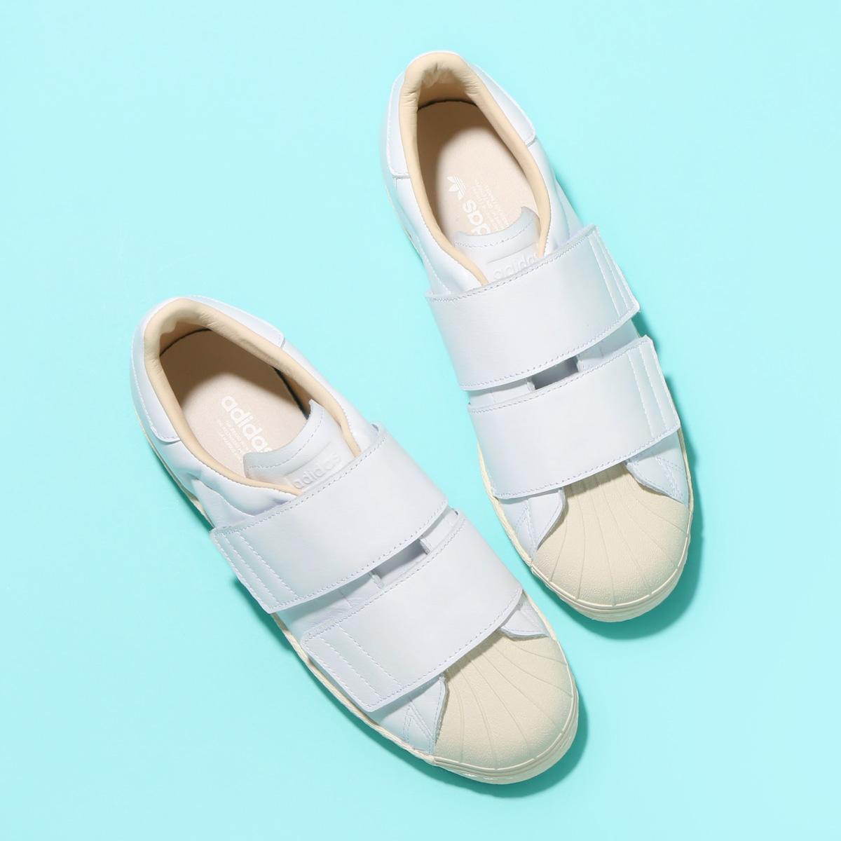 adidas Originals SS 80s VELCRO W(アディダス オリジナルス スーパースター 80s ベルクロ W) Running White/Running White/Linen18SS-I