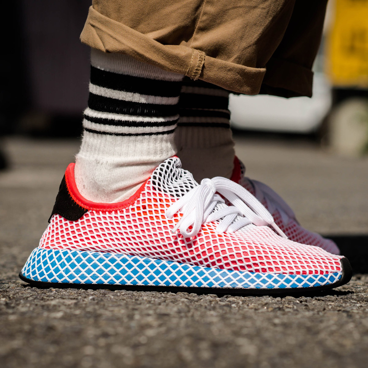 3108764b11cef adidas Originals DEERUPT RUNNER (アディダスオリジナルスディーラプトランナー) (Solar Red Solar  Red Blue Bird) 18SS-I