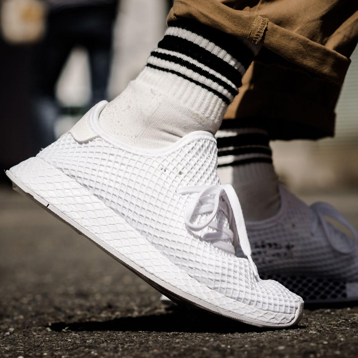 adidas Originals DEERUPT RUNNER(アディダス オリジナルス ディーラプト ランナー)(Running White/Running White/Running White)18SS-I
