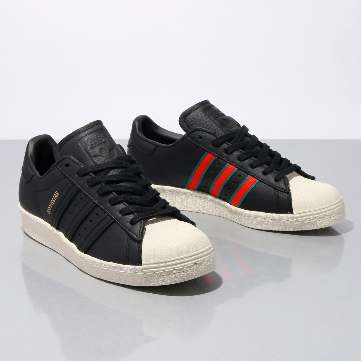 adidas Superstar 80s Core BlackGreenRed CQ2656