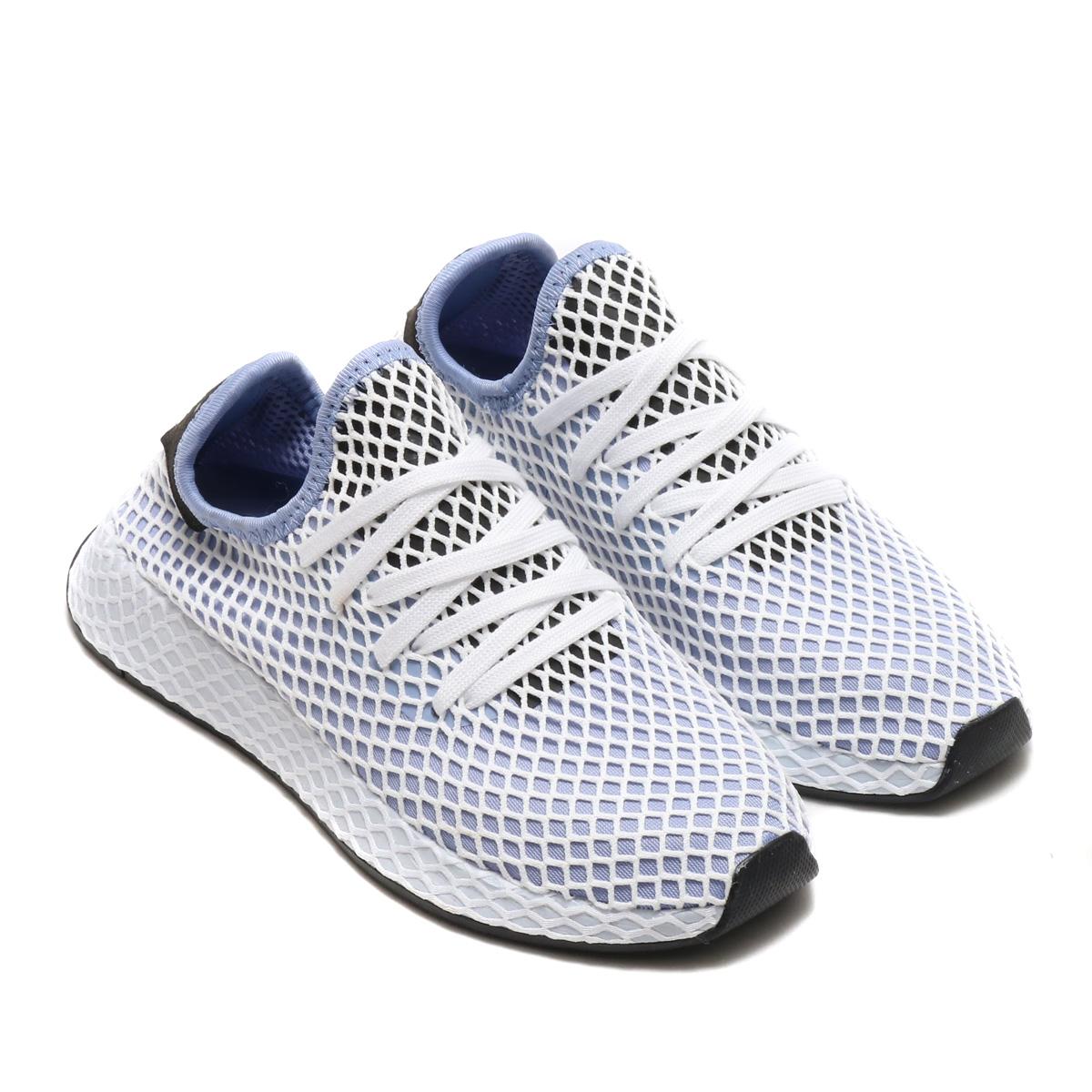 30fb5069856a6 adidas Originals DEERUPT RUNNER W (アディダスオリジナルスディーラプトランナー W) (chalk blue  S18  chalk blue S18  core black) 18SS-I