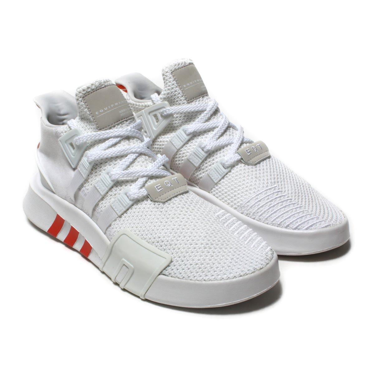 adidas Originals EQT BASK ADV(アディダス オリジナルス イーキューティー BASK ADV)Running White/Running White/Trase Scarlet【メンズ スニーカー】18SS-I