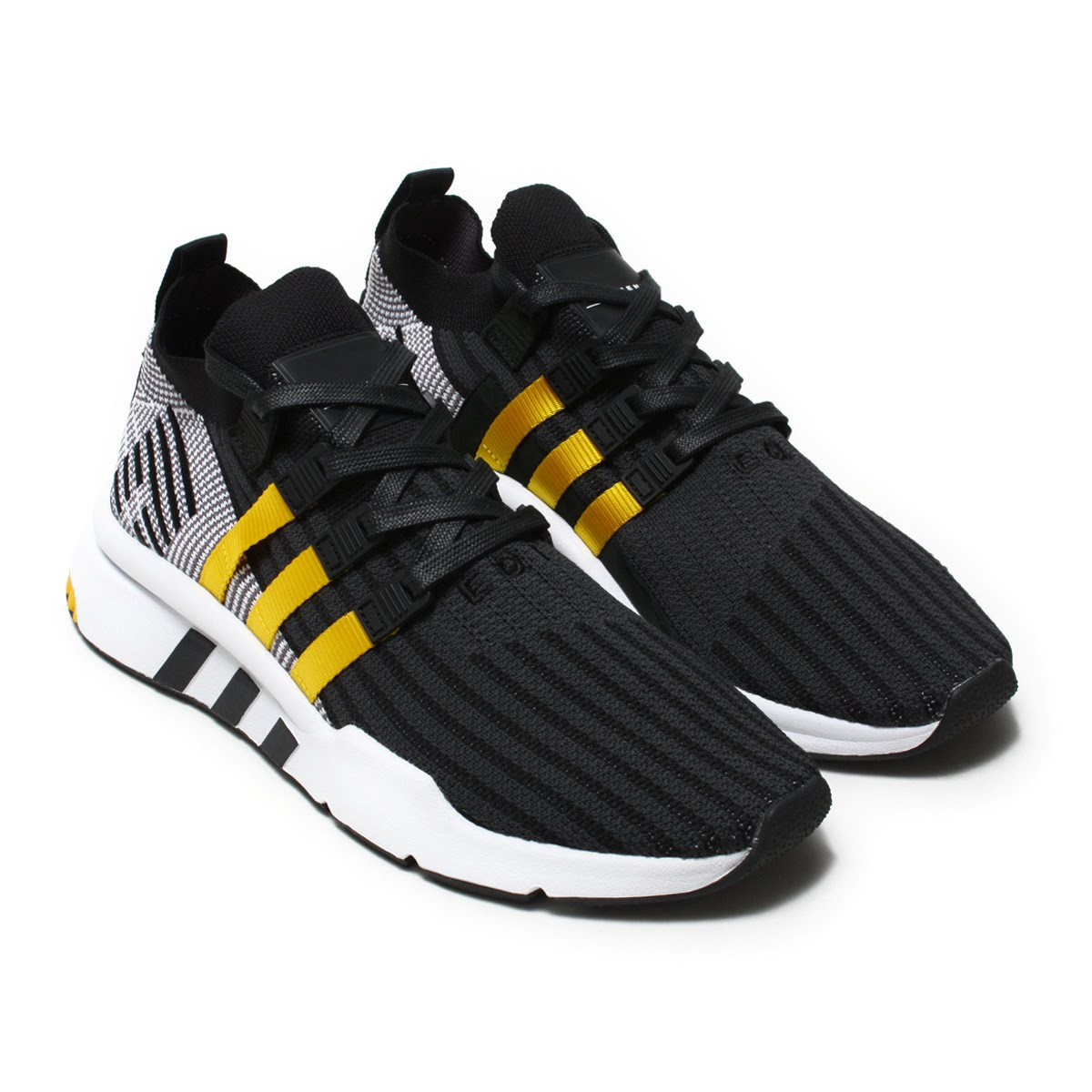 the latest 3a76e c5921 adidas Originals EQT SUPPORT MID ADV PK (Adidas originals E cue tea support  mid ADV PK) Core BlackEqt YellowRunning White 18SS-I