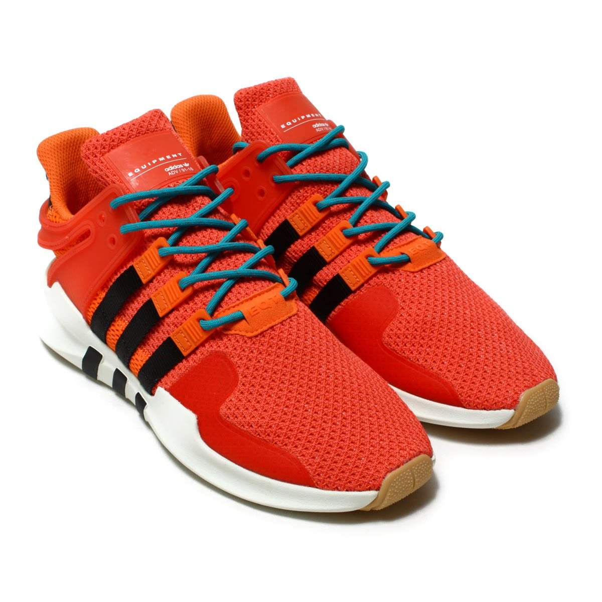 adidas Originals EQT SUPPORT ADV SUMMER (Adidas originals E cue tea support ADV summer) Trase OrangeWhite TintGum 18SS I
