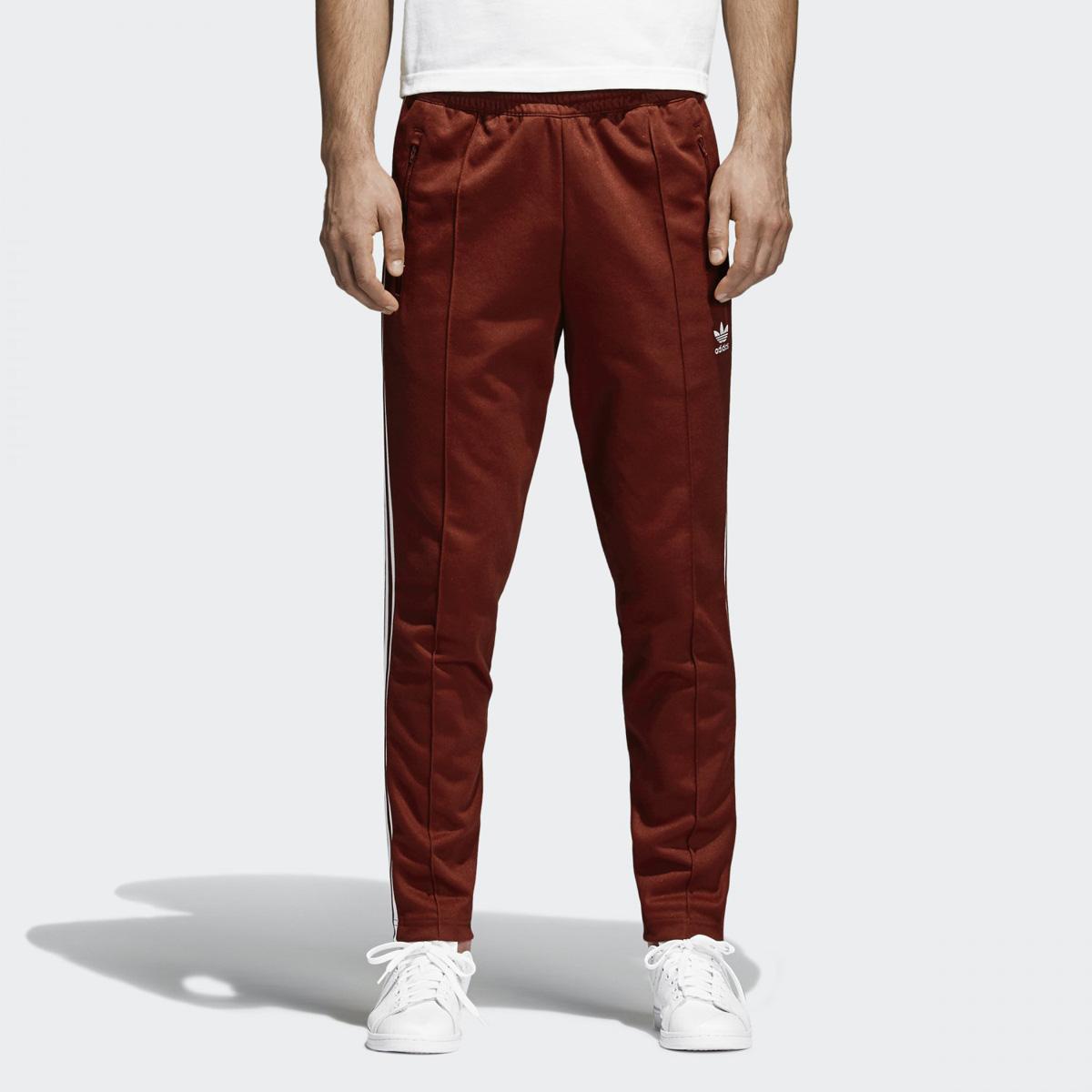 adidas Originals BECKENBAUER TRACK PANTS (Adidas originals Beckenbauer  trackpants) Rust Red 18SP-I 878f030d73