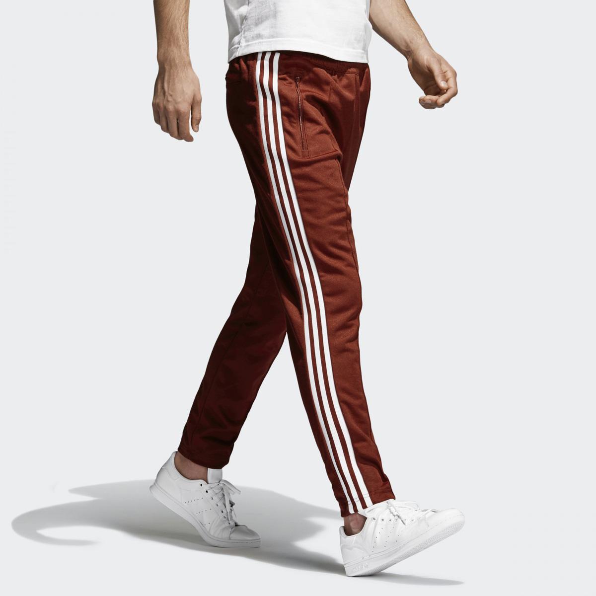 b60bc11c752d adidas Originals BECKENBAUER TRACK PANTS (Adidas originals Beckenbauer  trackpants) Rust Red 18SP-I