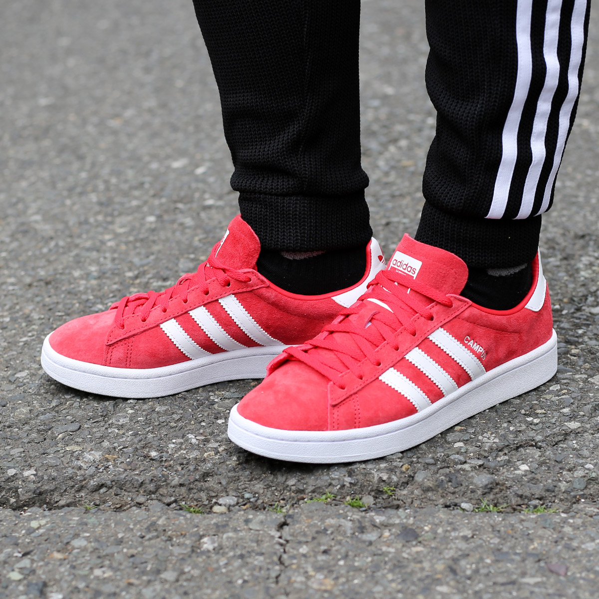 77a0a1fa2c3dbd adidas Originals CAMPUS W (Adidas original scan pass W) Rey Red Running  White Running White 18SS-I