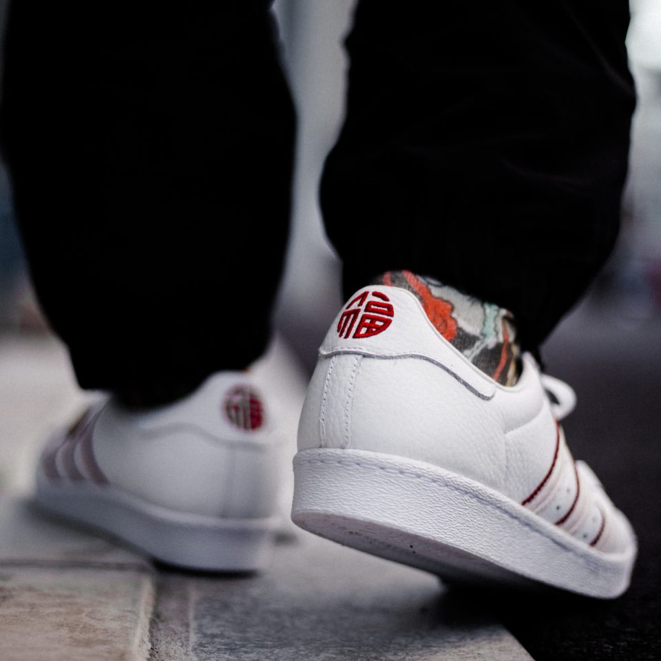 sale retailer ead00 631dd adidas Originals SUPERSTAR 80s CNY (Adidas originals superstar 80s CHINESE  NEW YEAR) Running White / Running White / Scarlet 18SS-S