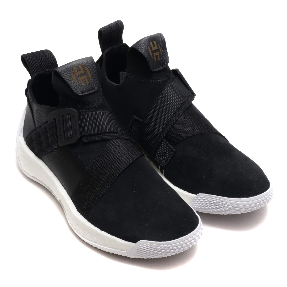 74e0f6814ad8 adidas Harden LS 2 BUCKLE (Adidas Arthur Harden LS2 buckle) Core Black Running  White Gold Met 18FW-I