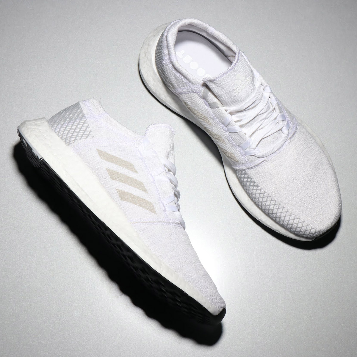 wholesale dealer f7d86 69b78 adidas PureBOOST GO (Adidas pure boost GO) RUNNING WHITE GREY 18FW-I ...