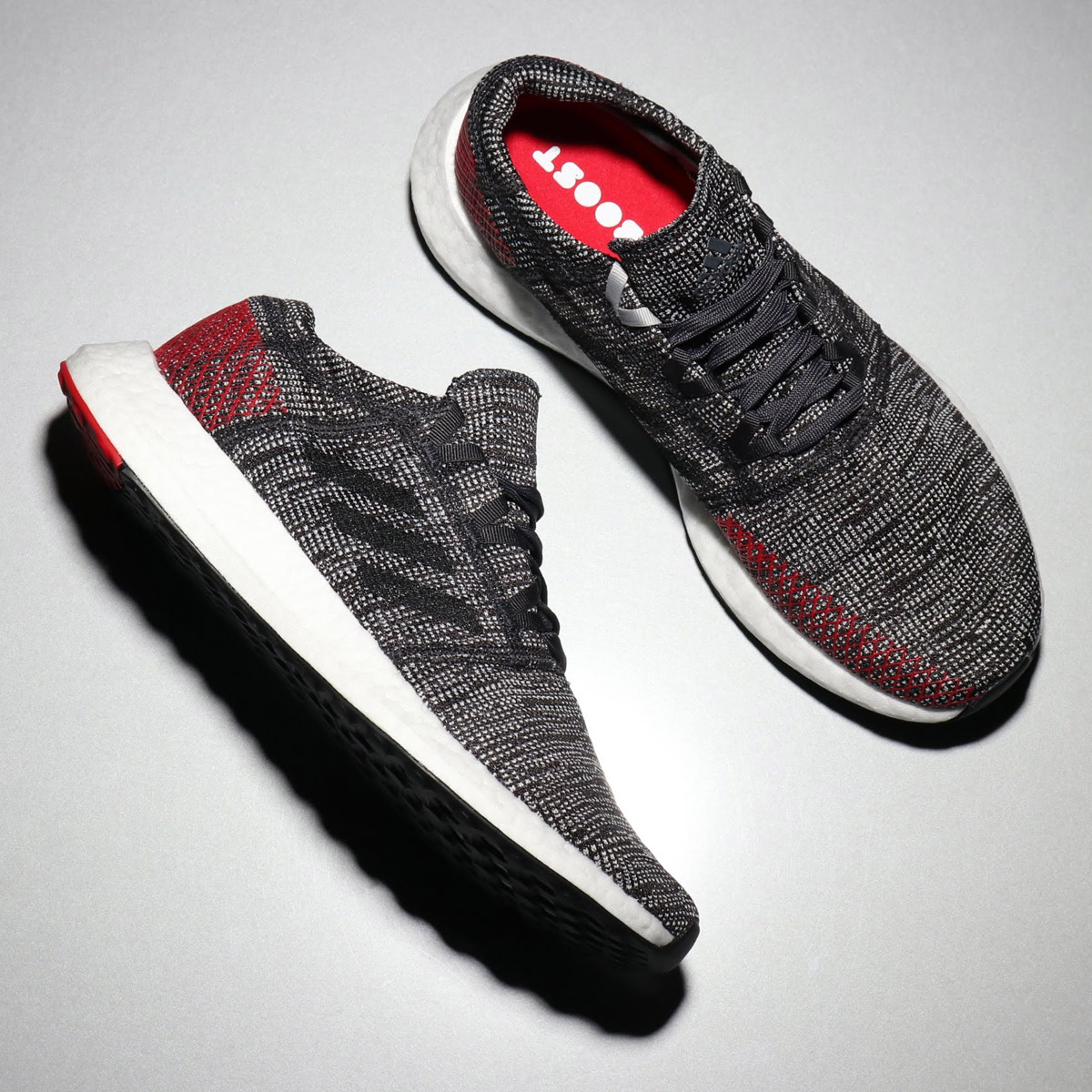 wholesale dealer f98bb f9efb adidas PureBOOST GO (Adidas pure boost GO) CARBON CORE BLACK POWER RED ...