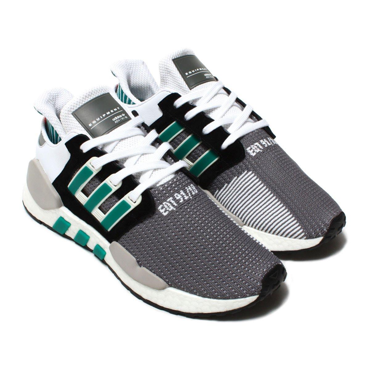 adidas Originals EQT SUPPORT 91 18 (Adidas originals E cue tea support 91 18)  CORE BLACK CLEAR GRANITE SUB GREEN 18FW-I d951dc178