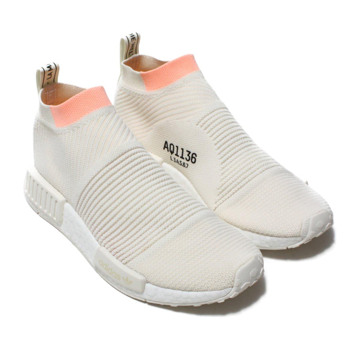 adidas Originals NMD CS1 PK W(アディダス オリジナルス エヌエムディCS1PKW)Cloud White/Cloud White/Clear Orange【メンズ レディース スニーカー】18FW-I