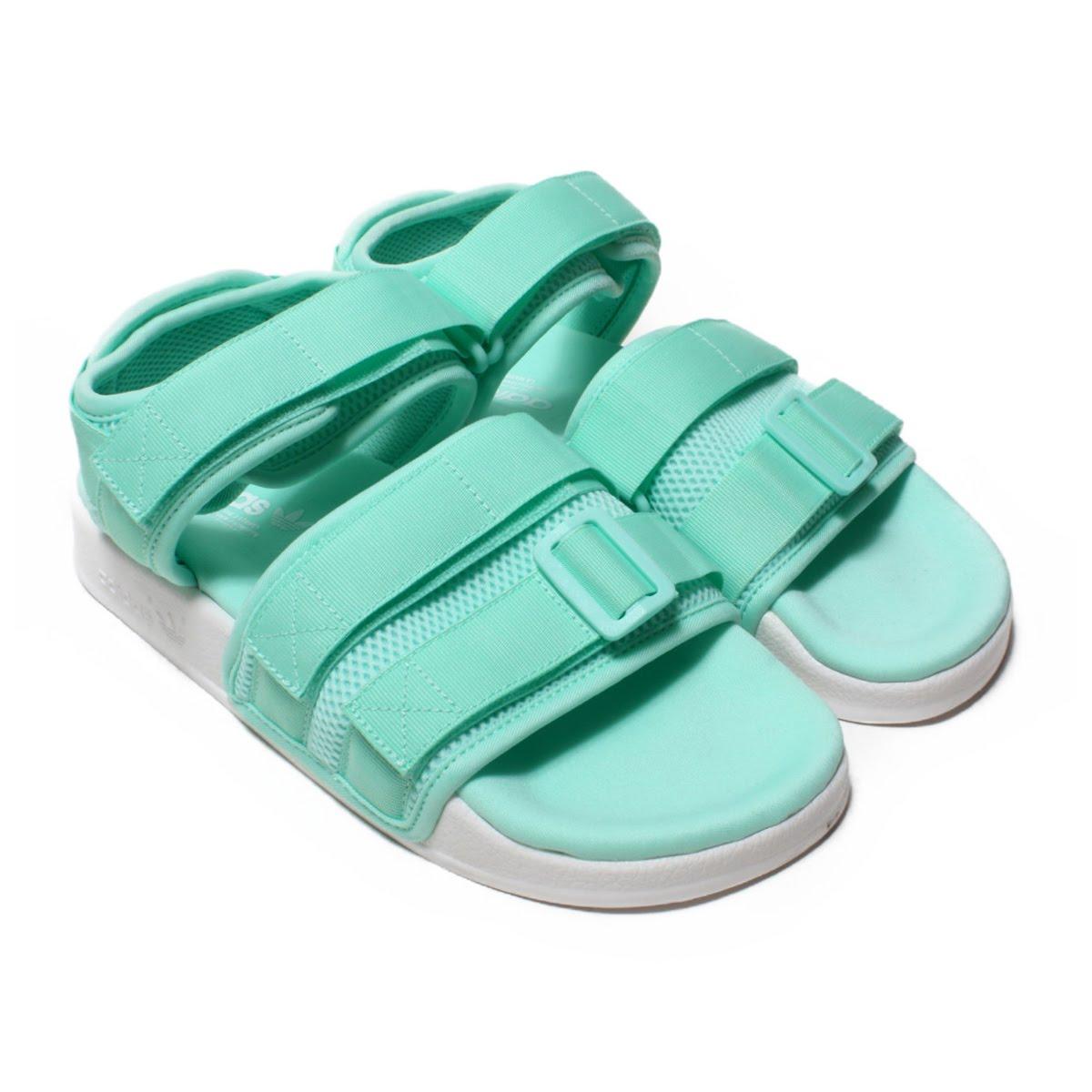 bf648a99f317 adidas Originals Adilette Sandal 2.0 W(愛迪達原始物阿迪萊塔涼鞋2.0W)Clear Mint Running  White Running White 18FW-I
