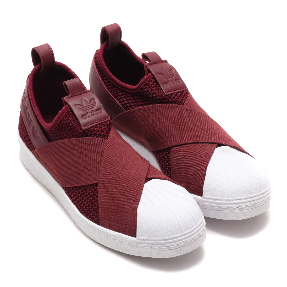 adidas Originals SS Slip On W (Adidas originals superstar slip-ons W) RED  NIGHT RED NIGHT RUNNING WHITE 18FW-I a589c3d6f