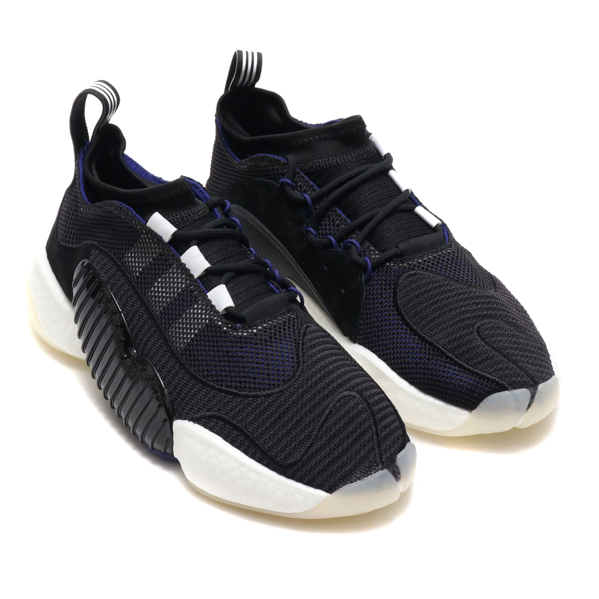 49a8fa3d4c1 atmos pink  adidas Originals CRAZY BYW LVL II (Adidas originals crazy BYW  LVL1) CORE BLACK REAL PURPLE RUNNING WHITE 18FW-I