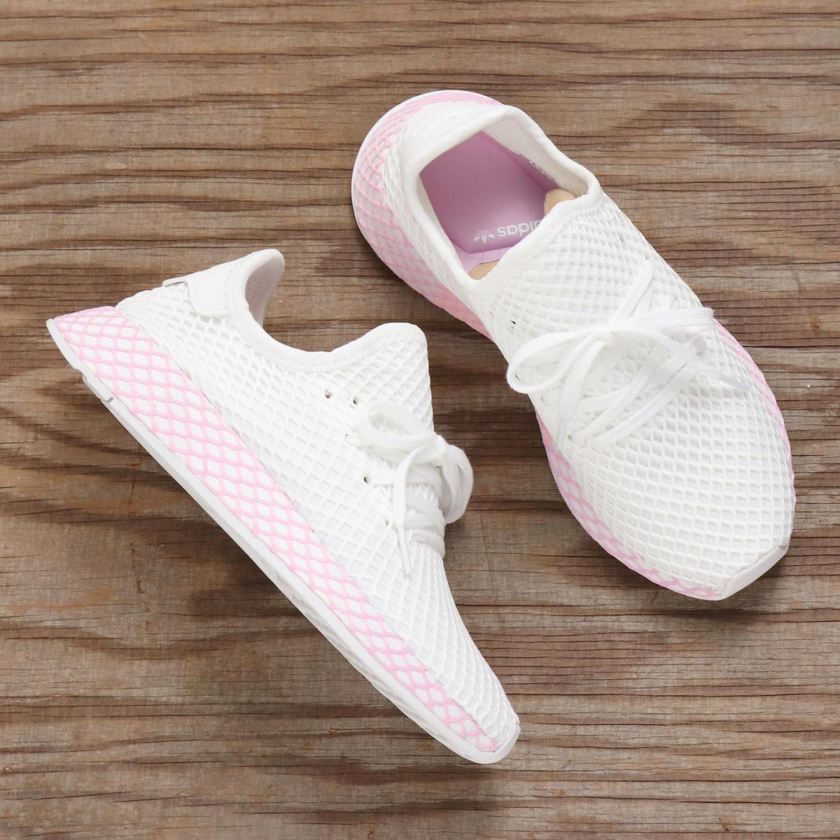adidas Originals DEERUPT RUNNER W(アディダス オリジナルス ディーラプトランナーW)RUNNING WHITE/RUNNING WHITE/CLEAR LILAC【メンズ レディース スニーカー】18FA-I