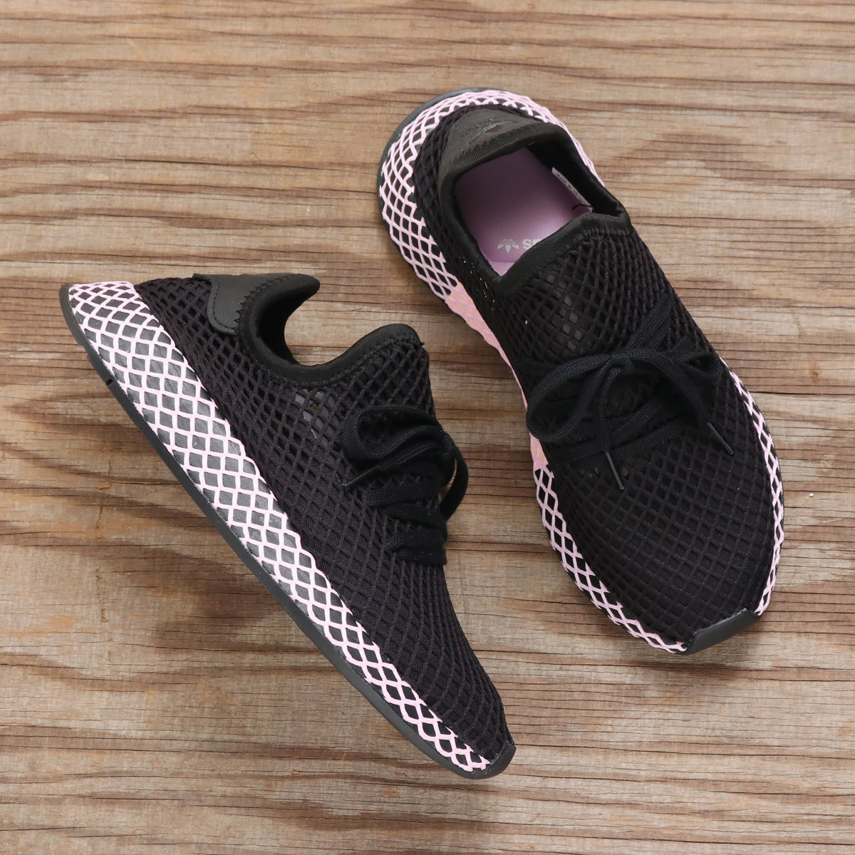 9fd581d4b adidas Originals DEERUPT RUNNER W (アディダスオリジナルスディーラプトランナー W) CORE BLACK CORE  BLACK CLEAR LILAC 18FA-I