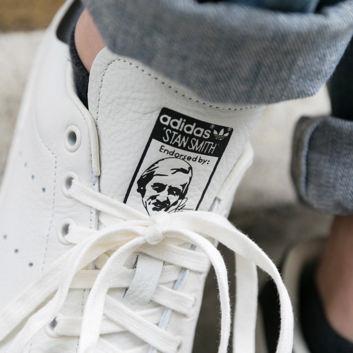 adidas Originals Stan Smith (Adidas originals Stan Smith) Chalk White Chalk  White Core Black 18FW-I 7b4653403