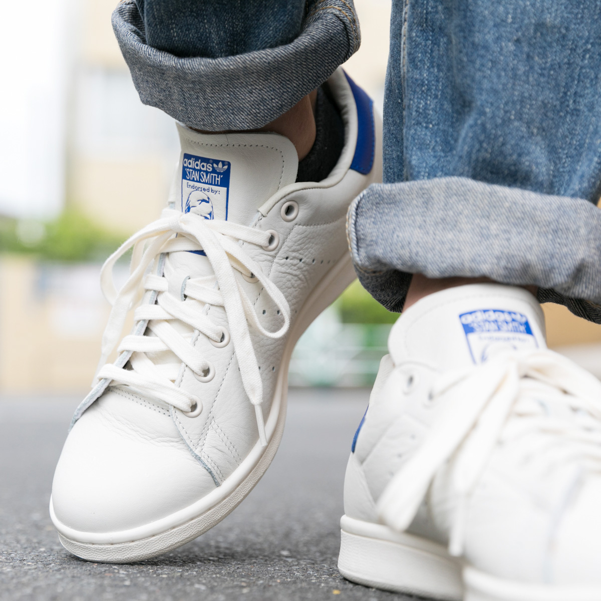adidas Originals Stan Smith(アディダス オリジナルス スタンスミス)Chalk White/Chalk White/College Royal【メンズ レディース スニーカー】18FW-I