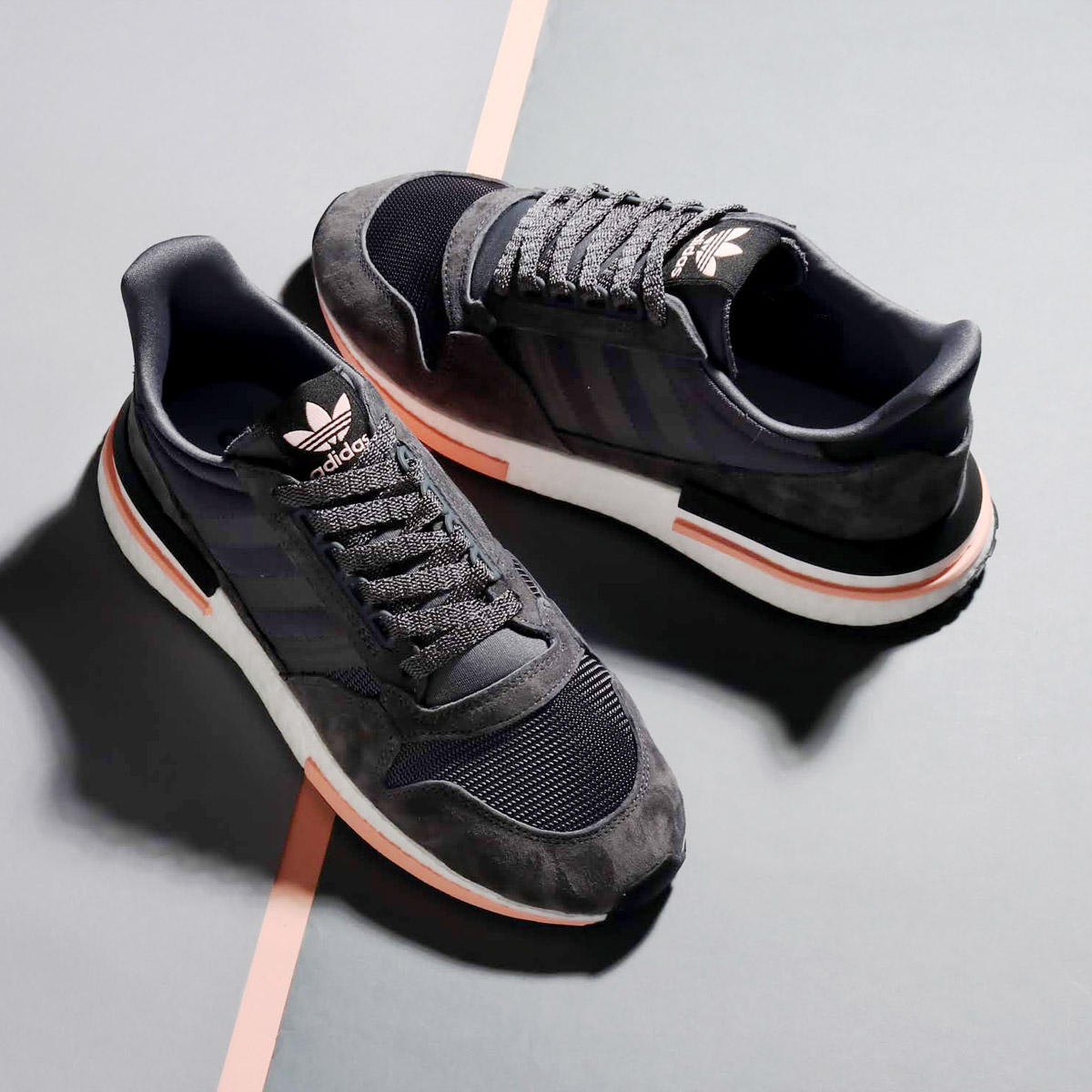 adidas Originals ZX 500 RM (Adidas originals ZX 500 RM) Grey Five/Running White/Clear Orange 18FW-I