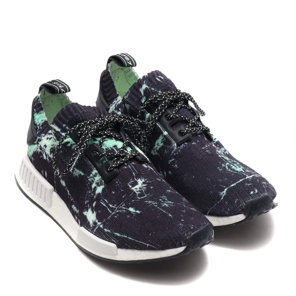 adidas Originals NMD R1 PK (Adidas originals N M D are 1) CORE BLACKRUNNING WHITEAERO GREEN