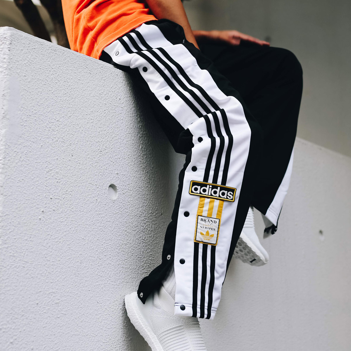 adidas Originals ADIBREAK OG TRACK PANTS(アディダス オリジナルス アディブレイクOGトラックパンツ)BLACK【メンズ パンツ】18FW-I